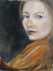 Self Portrait (shehaub) Tags: portrait self oil dailypainting
