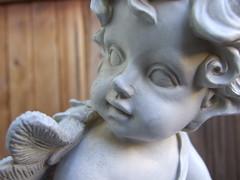 Garden Cherub (deltaclipr) Tags: sculpture statue angel cherub