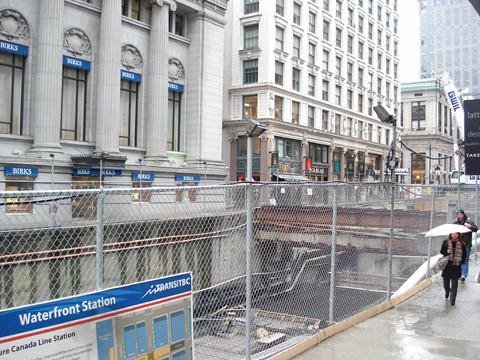 Granville St. construction.