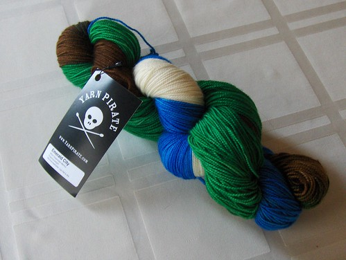 Yarn Pirate Merino Sock - Emerald City