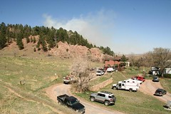 Boulder Red Rocks Fire