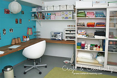 New craft studio - WIP (Craft & Creativity) Tags: blue ikea studio cabinet desk interior room craft decorating organize menthol