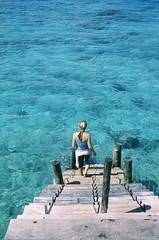 Katie's view (*sarah b*) Tags: ocean africa sea film tanzania fuji katie slidefilm velvia zanzibar prisonisland