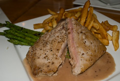 Seared Tuna (aubreyrose) Tags: food indiana asparagus bloomington tuna brasserie finchs