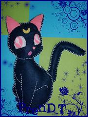 Swap personal- Luna (PrenD-T) Tags: moon cat handmade felt gata feltro hechoamano fieltro prendt seilormoon