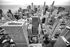 Explosion (dlorenz69) Tags: hancock center chicago view aussicht tower turm sky scraper hochhaus city silhouette cityscape usa nice explosion town stadt zentrum stadtzentrum high above bw black white monochrome wide angle 15mm zeiss distagon weitwinkel