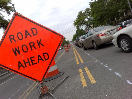Road Work Ahead on New Hampshire Avenue