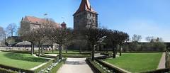 Nuremberg Castle Gardens (John of Witney) Tags: trees autostitch panorama tower castle gardens germany bayern deutschland bavaria nuremberg burg nrnberg