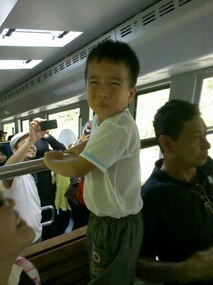 Julian in the coach