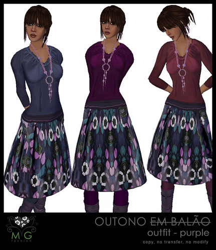 [MG fashion] Outono outfit - purple