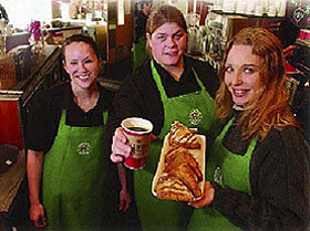 Participants of the baristas program (courtesy of the Surrey Leader)