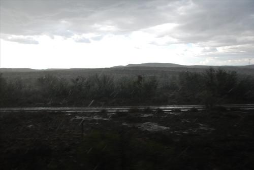 hailstorm in the Karoo