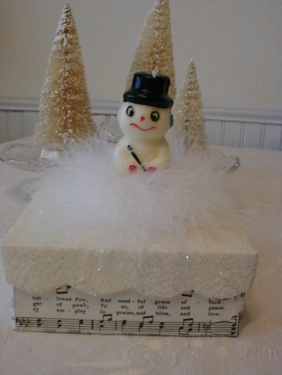 Vintage Snowman Box by littlethings1