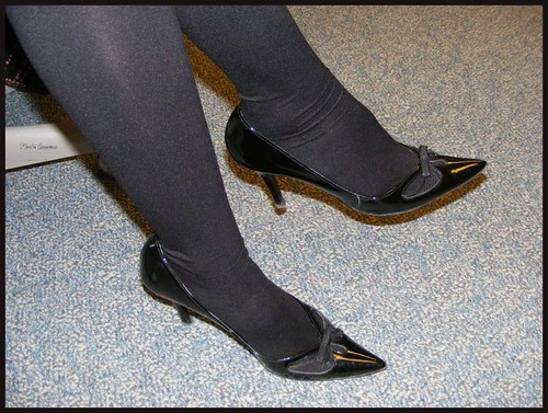 Black Stockings And Shoes