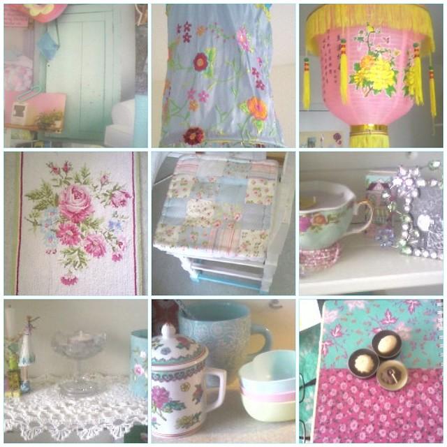 pink blue white flower home lamp fdsflickrtoys aqua candle mosaic turquoise pastel frame mug rug cushion candleholder lightblue iceblue vitt flowery shabbychic vit vintagechic