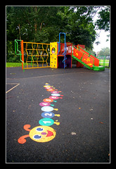 Caterpillar (Waka Jawaka) Tags: park playground children manchester child slide caterpillar failsworth