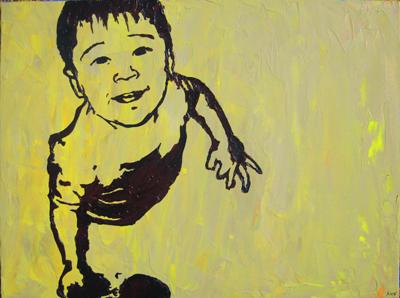 Stencil Portrait - Tiiu's son