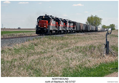 Northbound (Robert W. Thomson) Tags: railroad train diesel railway trains northdakota locomotive trainengine washburn geep emd gp35 fouraxle dmvw dakotamissourivalleywestern