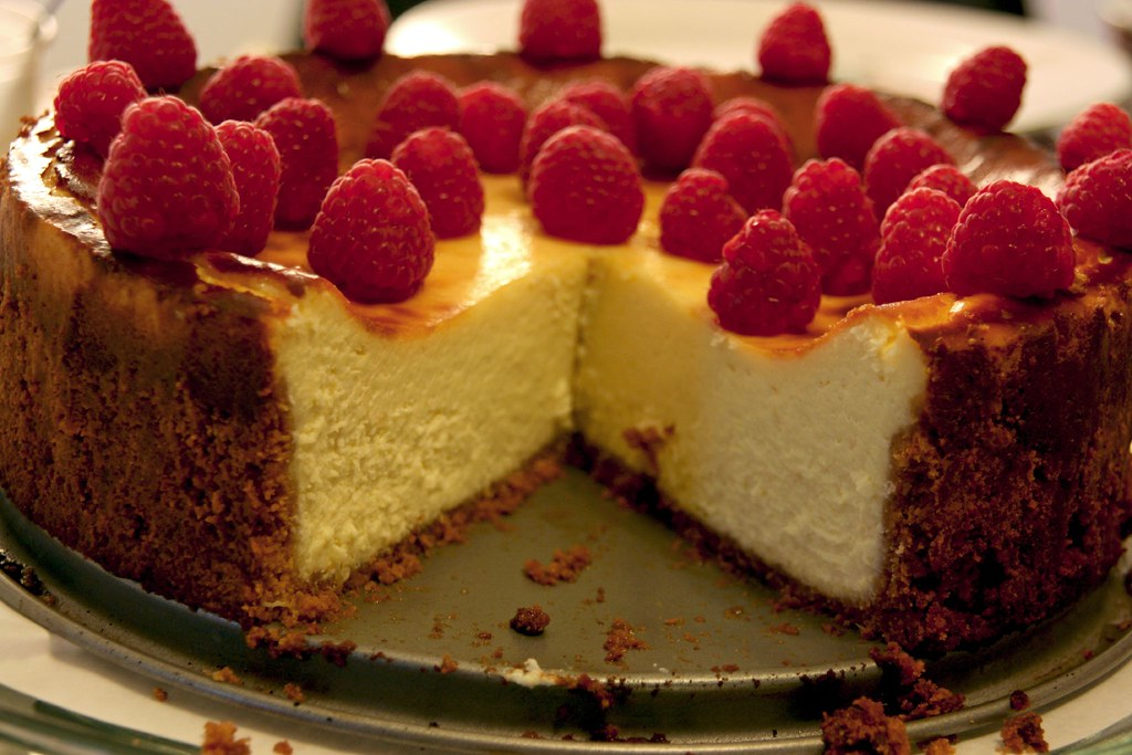 Raspberry Cheesecake innards