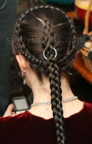 braid hairstyle photos. Classic hairstyle for women -Herringbone Braid. Beautiful basic herringbone