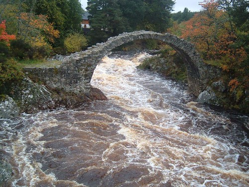 Carr Bridge - the old bridge  - Scotland