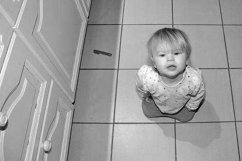 Maud op de vloer