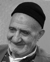 No regret for life (hapal) Tags: old portrait white man black smile hat iran creative commons creativecommons iranian         photofaceoffwinner hapal  hamidnajafi