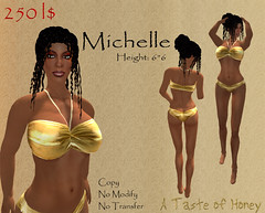Michelle (Max Malick) Tags: shopping poster background michelle creation honey secondlife shape honeydripper photojob slbabe honeydripperdeere