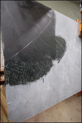 Our black venata slab at M. Teixeira Soapstone