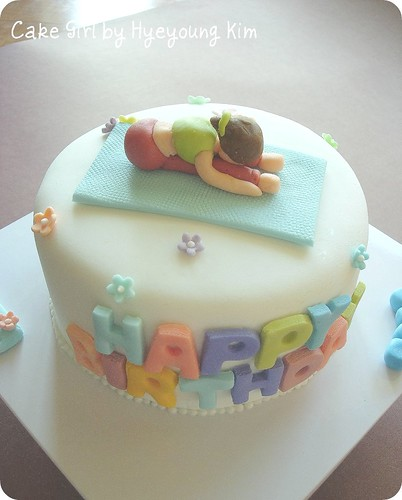 Birthday Cake for Yoga Teacher - Full Shot
