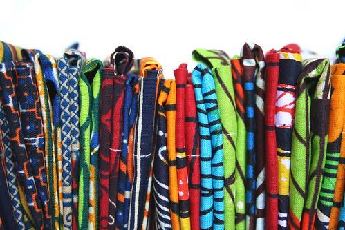 sacos de tecido africano