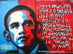 Obama graffiti: A product of open branding - Photo by Seetwist