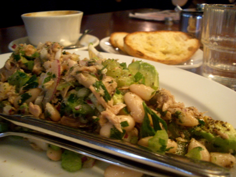 Tuna and bean salad at Journal