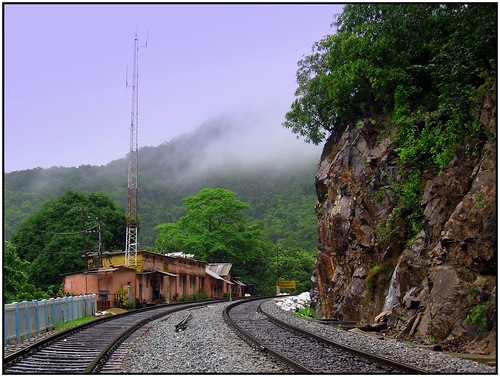 Doodhsagar Railway Station by (Old Man).