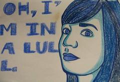 lull (supersairuh) Tags: blue sketchbook crayon andrewbird lull sairuh