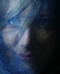 (Mik Thorvaldsen) Tags: blue light portrait texture colors girl beauty contrast mouth model eyes shadows ombre toni carf tones colori ritratto velo bocca luce ragazza testura contrasto modella mikel1983 micheletorsello