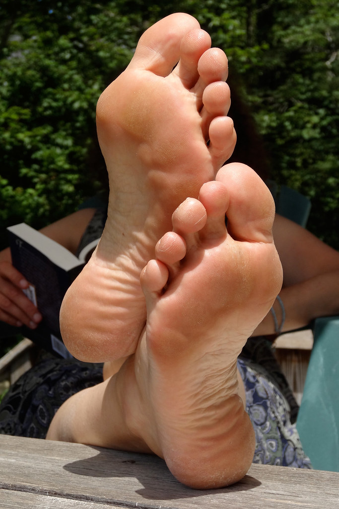Feet fetish soles milf