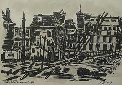 Weesperstraat by J.S. 1963 (streamer020nl) Tags: tekening sketch drawing jan sijmons symons weesperstraat nieuwe prinsengracht 1963