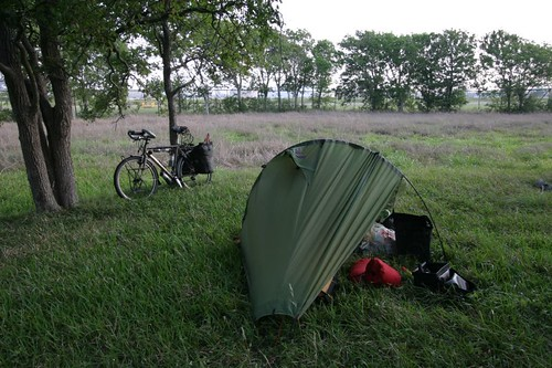 Wild camp next to the chemical plant in Point Comfort, Texas.