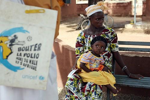 Vaccination day mom baby Mali