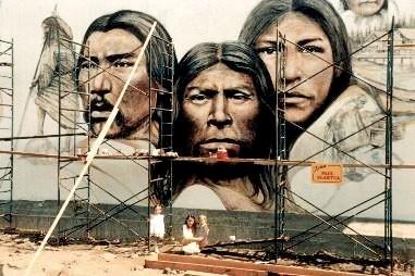 Native Mural in Chemainus
