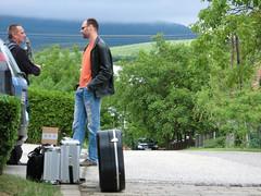 Nikolai e Roland in partenza