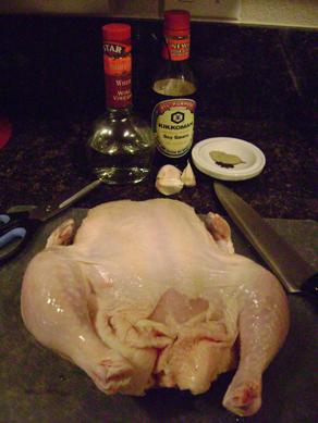 adobo chicken fixins