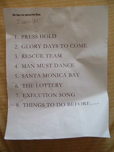 Johnossi Set List