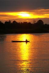 Laos: Si Phan Don (patrikmloeff) Tags: travel sunset sun reflection river boot soleil boat reisen asia asien sonnenuntergang sony rivire insel mann laos fluss sonne spiegelung lao mekong coucherdesoleil rower mensch laotian 4000islands ruderboot ruderer siphandon laote fourthousandislands sony100 viertausendinseln 4000inseln