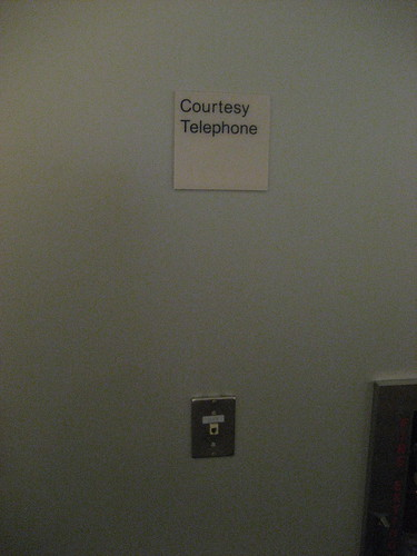 courtesy telephone