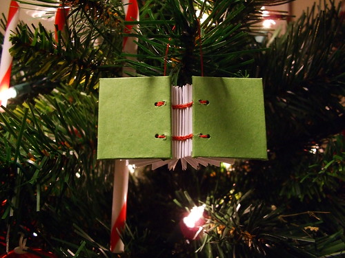 Green Tiny Book Ornament