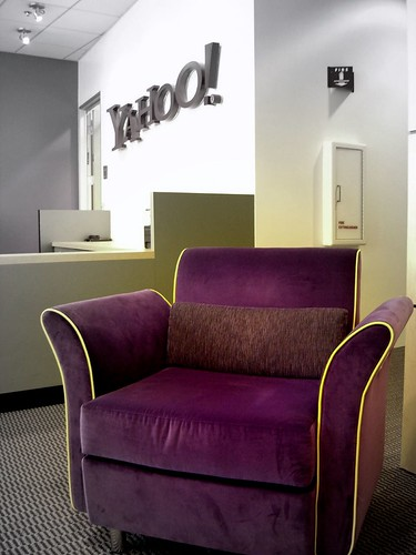 Purple violet chair in yahoo campus
