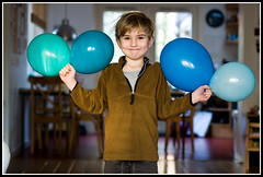 six years (Eelco Visser) Tags: birthday party portrait 6 portraits balloons six jelle faved