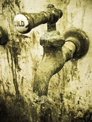 Cold Faucet (insatiable73) Tags: old cold water dirty faucet splatter insatiable73